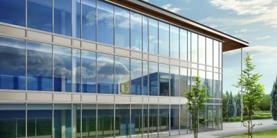 ガラス建物