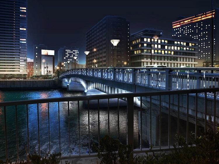 玉江橋のライトアップ計画